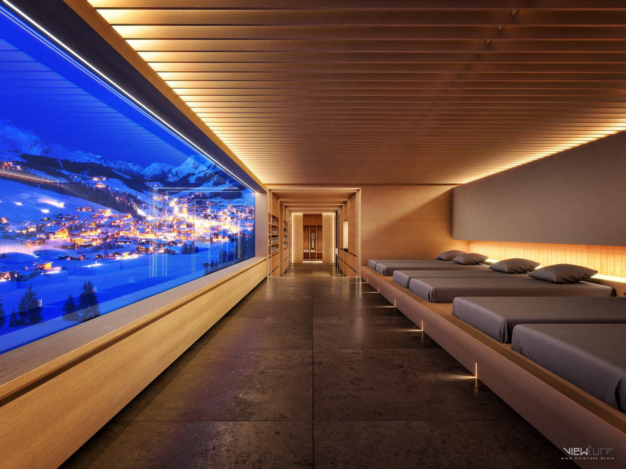 Stilvolles Ausspannen im Ruheraum des hoteleigenen Spa-Bereichs
