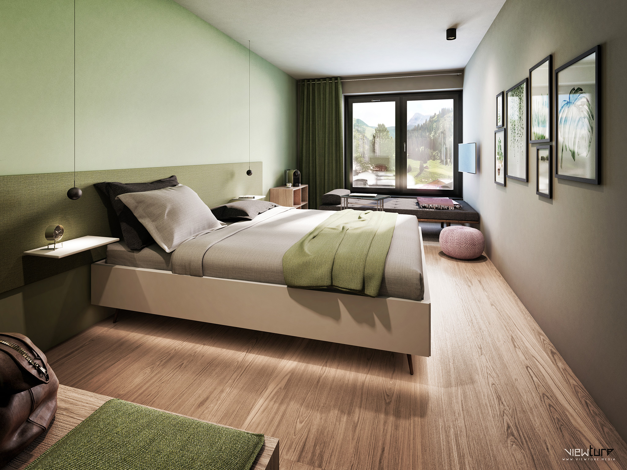 Viewture Visualisierung Suite Hotel young casual style